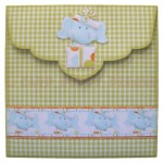 Birthday Elephant Over The Top Easel Card - envelope back