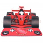Racing Car Shaped Easel Card - view 1 (sentiment 1 of 5)