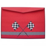 Racing Car Shaped Easel Card - envelope back