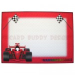 Racing Car Shaped Easel Card - envelope front