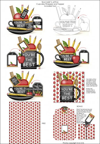 Teacher's Cup printables by Anni Arts