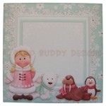 Eskimo Greetings Shaped Fold Card - envelope front