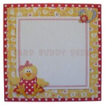 One Cute Chick Wavy Edged Over The Top Card - envelope front