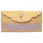 Flower Girl Shaped Fold Card - envelope back