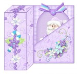 Still Joyful Santa Gift Box Card View