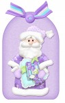 Still Joyful Santa Gift Box Card Tag Front View