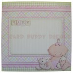 A New Baby Girl Fold Card - envelope front