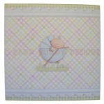 A New Baby Boy Fold Card - back view