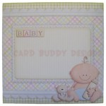 A New Baby Boy Fold Card - envelope front