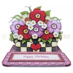 Floral Planter Shaped Easel Card - view 1