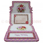 Floral Planter Shaped Easel Card - inside view