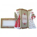 Traditional Santas Shaped Tri Fold Card - finished set