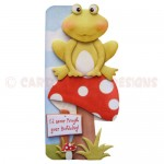 You're Unfrogettable Shaped Fold Card - front view 1