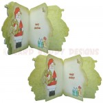 Christmas Greetings Shaped Fold Card - inside view