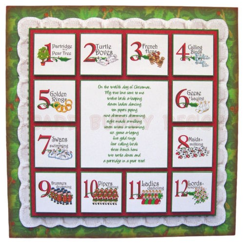 12 Days of Christmas Fold Card - view 1