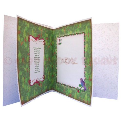 12 Days of Christmas Fold Card - inside view