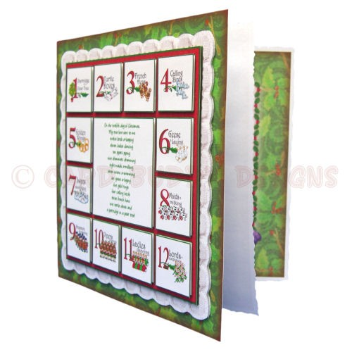 12 Days of Christmas Fold Card - view 2