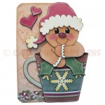 A Ginger Hug in a Mug Shaped Fold Card - front