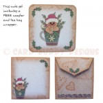 A Ginger Hug in a Mug Shaped Fold Card - extras