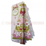 Under the Tree 3D Shaped Fold Card Kit - view 2