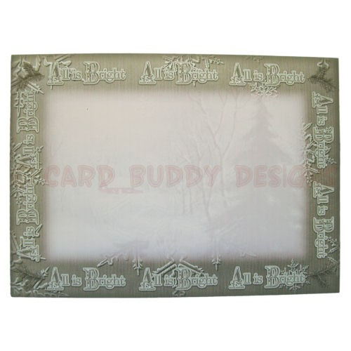 Snowy Cottage Bracket Edge Shadow Box Fold Card Kit -envie front