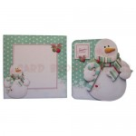 Snowy Greetings Shaped Fold Card - finished set