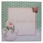 Snowy Greetings Shaped Fold Card - envelope front