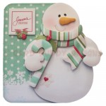 Snowy Greetings Shaped Fold Card - view 1