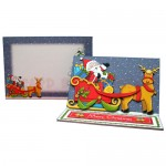 Santa's Sleigh Easel Card - finished set