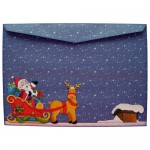 Santa's Sleigh Easel Card - envelope back