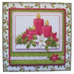 Christmas Candles Fold Card - without pyramage