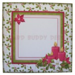 Christmas Candles Fold Card - envelope front