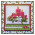 Christmas Candles Fold Card - with pyramage