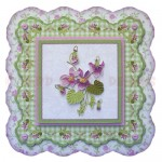 Sweet Violets Shaped Fold Card - view 1