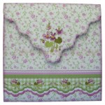 Sweet Violets Shaped Fold Card - envelope back