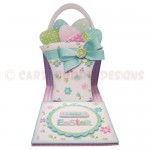Basket of Easter Eggs Shaped Easel Card - view 1