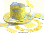 Birth Flower and Gem March Cup Set