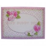 Pink Flower Basket Shaped Easel Card - envelope front