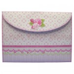 Pink Flower Basket Shaped Easel Card - envelope back