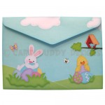 Easter Fun Shaped Tri Fold Card - envelope back