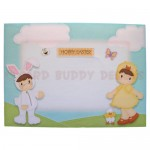 Easter Fun Shaped Tri Fold Card - envelope front