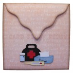 Beary Pawly Shaped Easel Card - envelope back