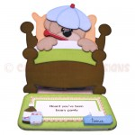 Beary Pawly Shaped Easel Card - view 1