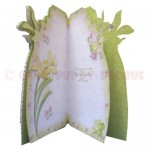 Golden Daffodils Shaped Fold Card - inside view