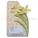 Golden Daffodils Shaped Fold Card - view 1