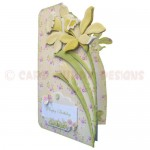 Golden Daffodils Shaped Fold Card - view 2