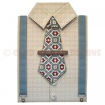 Gentleman's Shirt Shaped Fold Card - front view