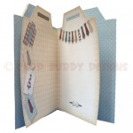 Gentleman's Shirt Shaped Fold Card - inside view