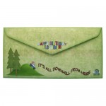 Over the Hill Shaped Cascade Card - envelope back