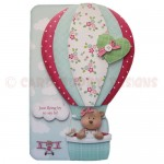 Flying By Shaped Fold Card - version 1 (traditional decoupage)